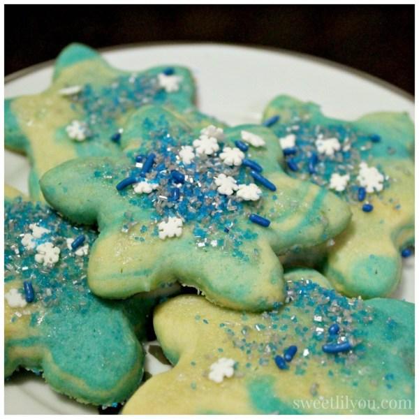 Frozen Snowflake cookies- Marble sugar cookies