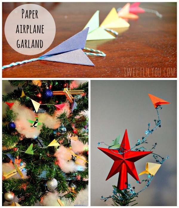 Paper airplane garland banner #PlanesToTheRescue #ad