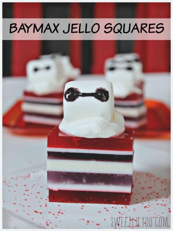 Baymax Jello squares