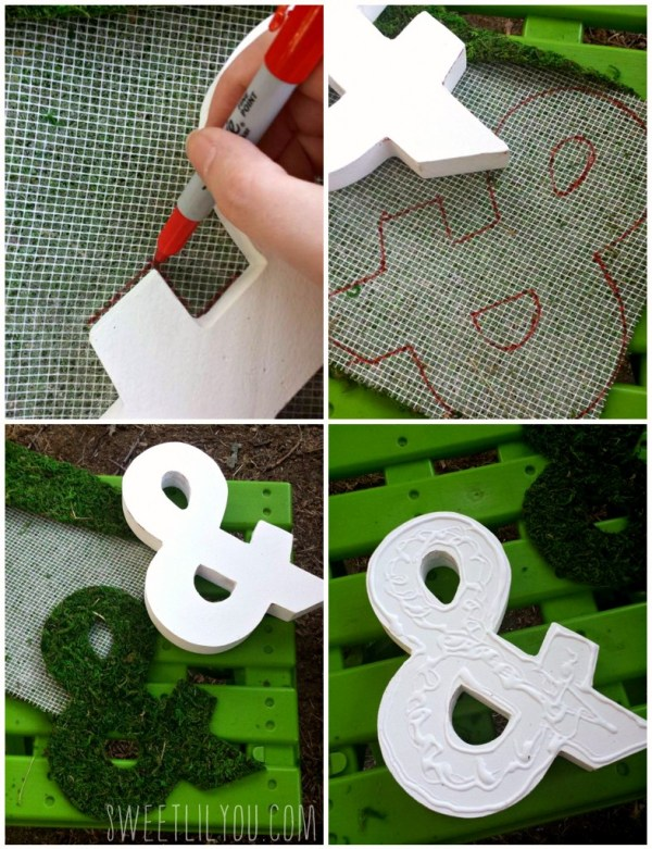 Moss covered letters how to step by step