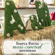 Simple, Moss Covered monogram letters. Rustic Wedding Decor. via sweetlilyou.com