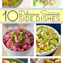 10 Delicious Summer Side Dishes! Recipes that are sure to impress at your next summer party! Via sweetlilyou.com