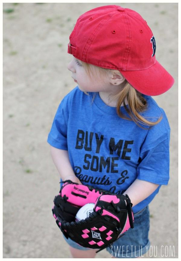 Avery playing baseball
