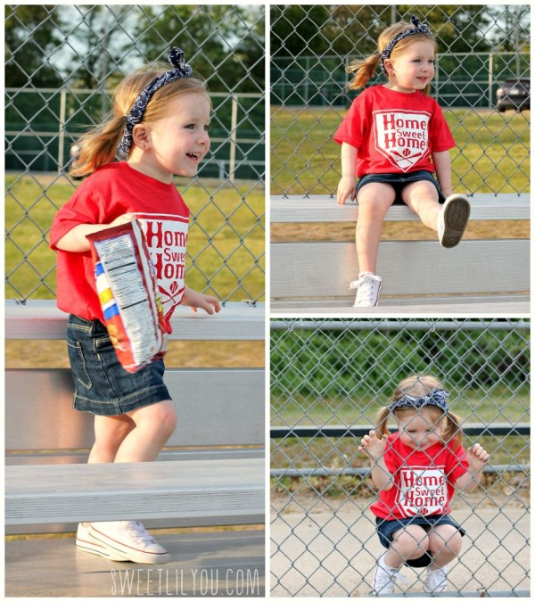 Avery running and smiling