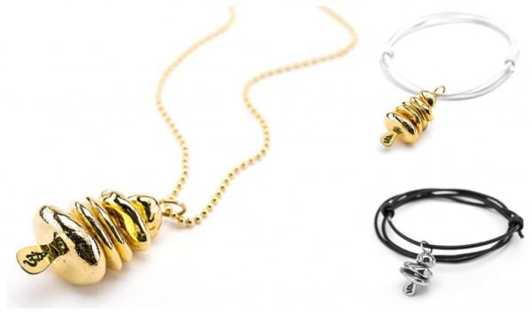 Omstacks PRANAstacks necklaces and bracelets Gold and Silver