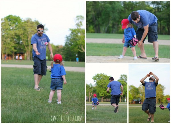 Playing Baseball with daddy