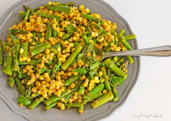 Easy Corn and Asparagus cold salad SUmmer cookout recipe