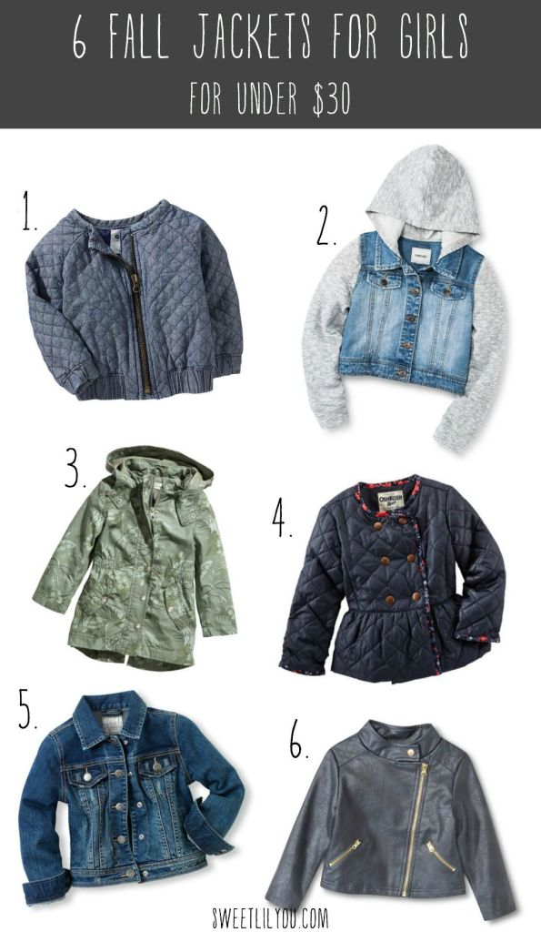 6 Fall Jackets for Girls for Under $30