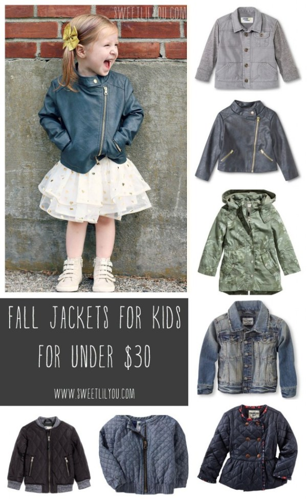 Fall Jackets for Kids for Under $30