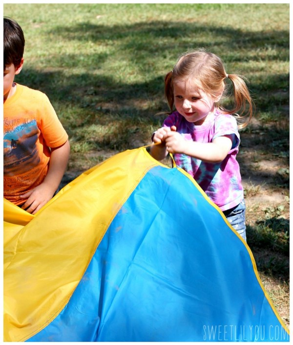 Playing parachute