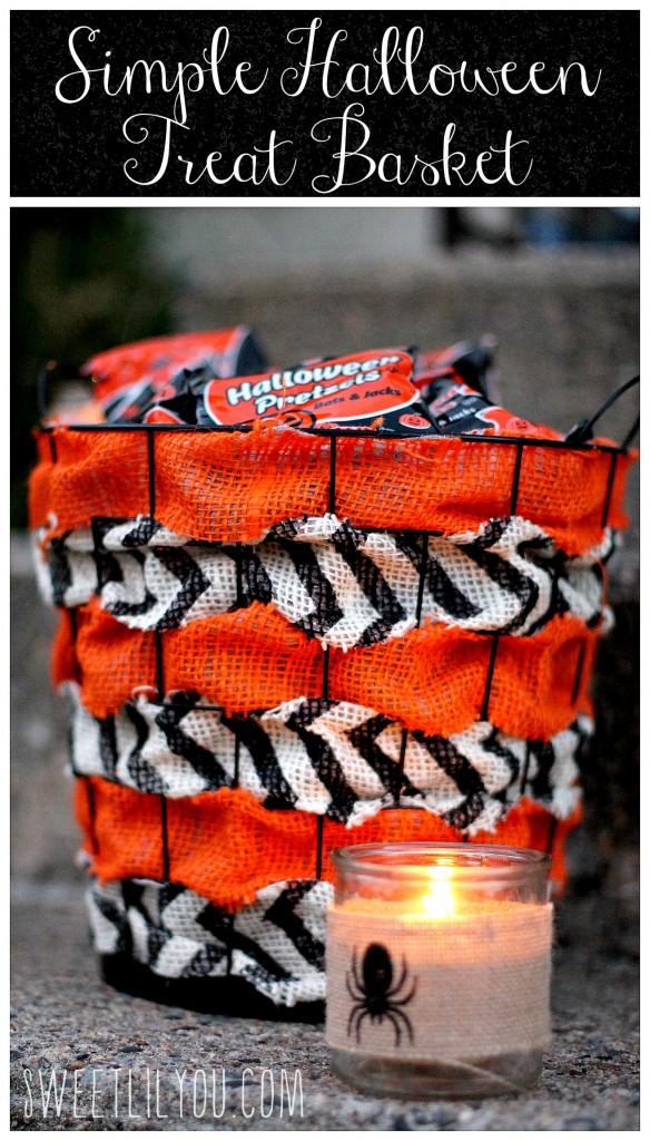 Simple Halloween Treat Basket - DIY
