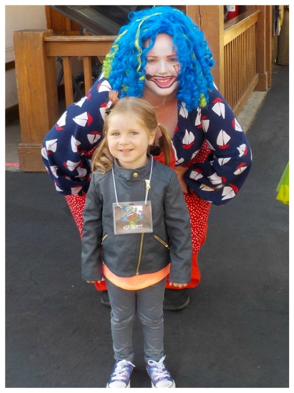 Avery and a clown
