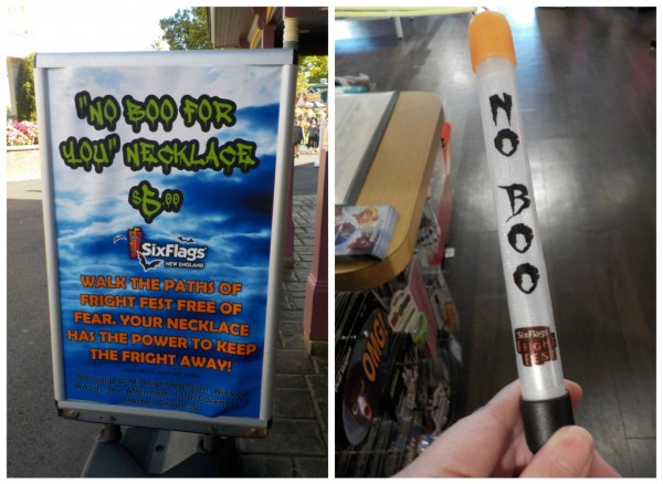 No Boo Necklace Fright Fest