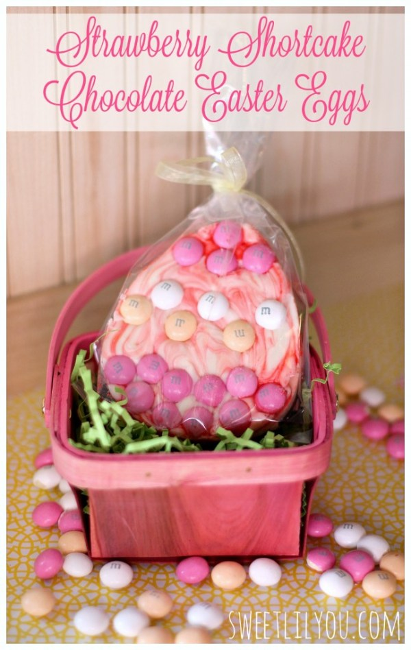 Strawberry Shortcake Chocolate Easter Eggs