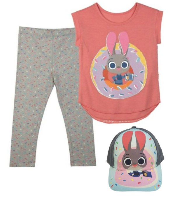 zootopia leggins ad shirt and Judy Hopps hat
