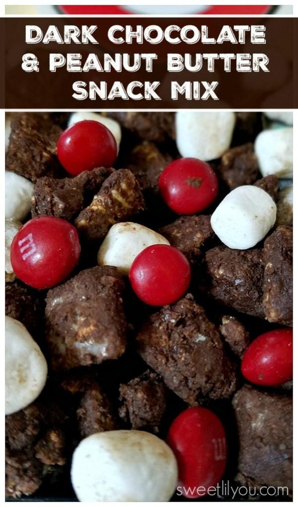Dark Chocolate Peanut Butter Snack Mix