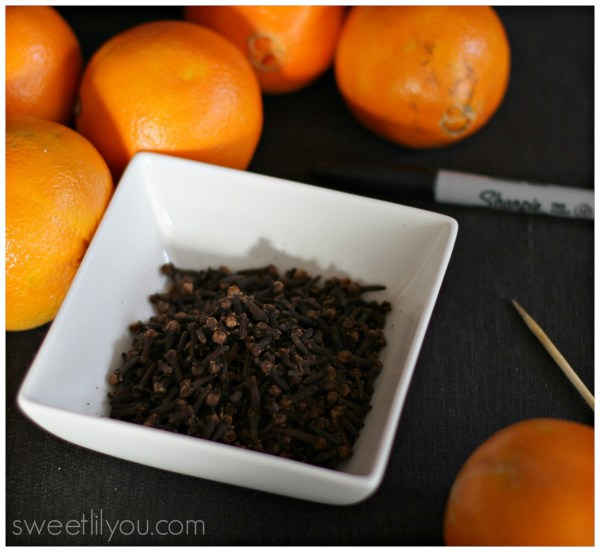 orange pomander supplies