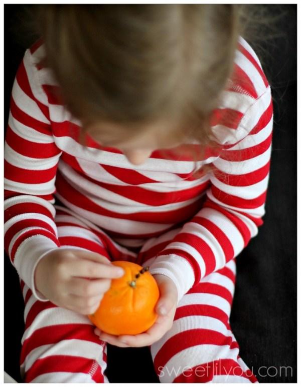orange pomander easy craft for kids