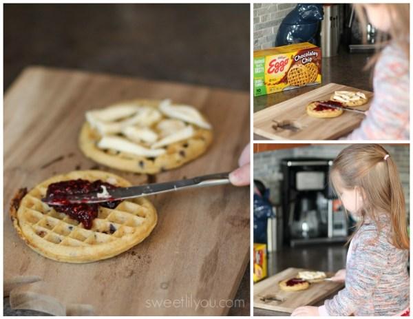 Raspberry Brie Waffles