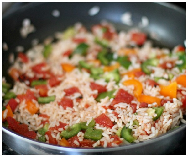 Peppers and rice