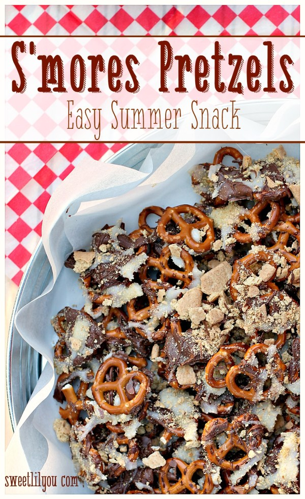 S'mores Pretzels - Easy Summer Snack #ad #SnackSnapShare #SnackStories