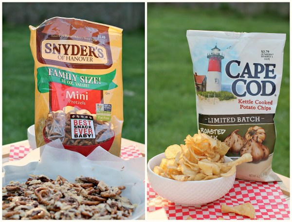Snyders Pretzels and Cap Cod Potato Chips