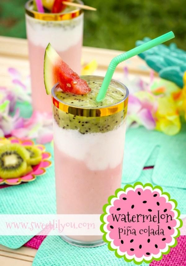 Watermelon Pina Colada - Delicious Summer Drinks