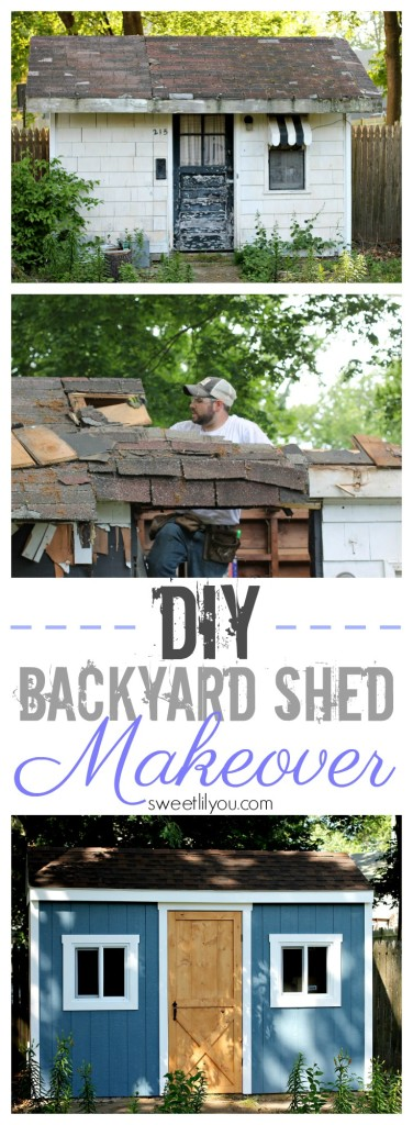 DIY Backyard Shed Makeover - #RoofedItMyself #ad