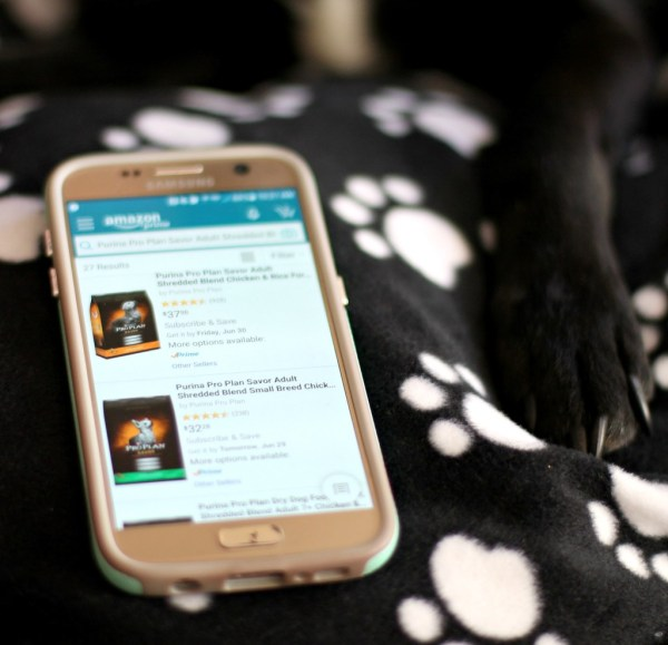 Order pet food with the Amazon app