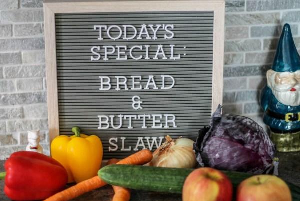 Bread & Butter Slaw Ingredients