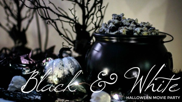 Black & White Halloween Movie Party