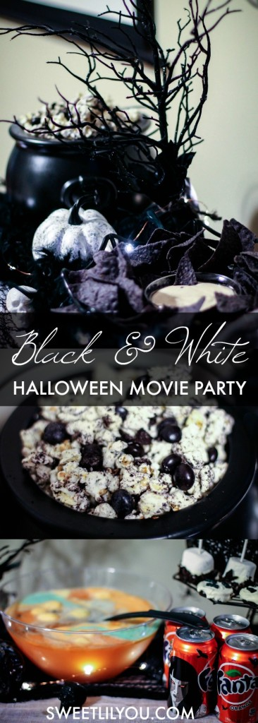 Black and White Halloween Movie Party Easy Party Plan
