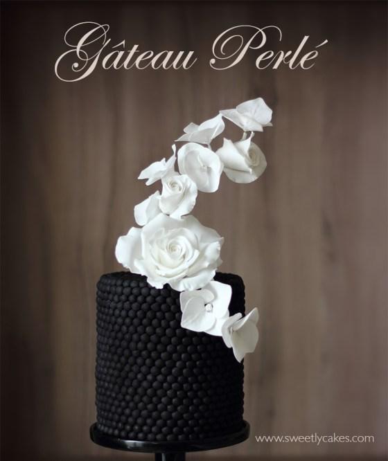 gâteau perlé en pâte à sucre