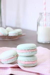 macarons fraise et chocolat blanc