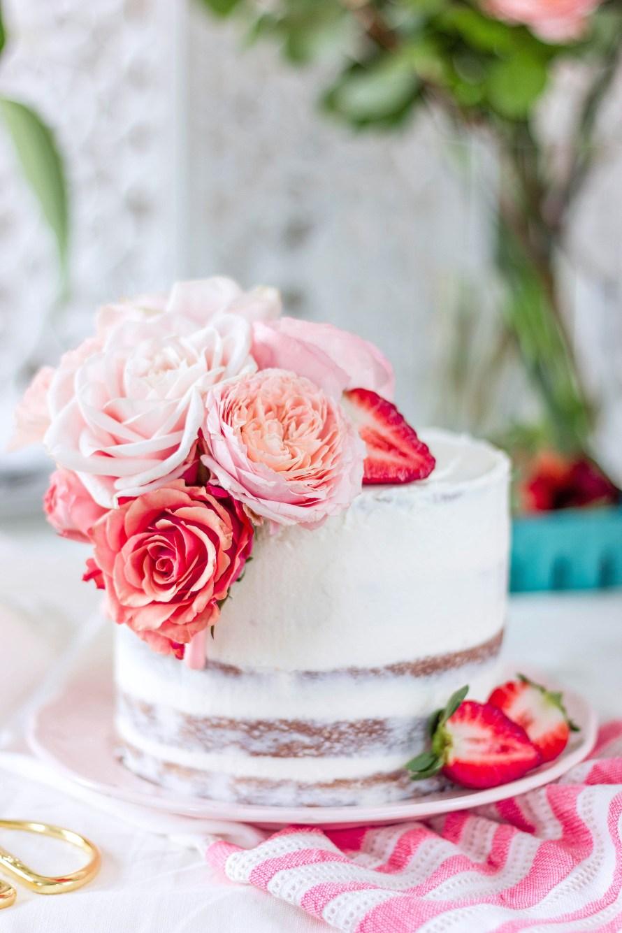 Semi Nake Cake aux fraises