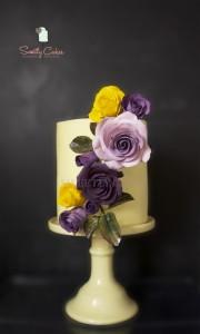 Gâteau bouquet de fleurs gumpaste