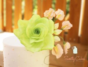 Green peach cake