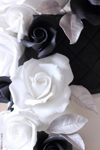 Rose en gumpaste du Wedding cake