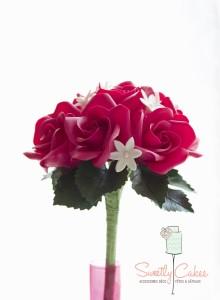 bouquet de rose en porcelaine froide