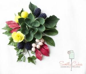 Bouquet en pâte à sucre et succulent