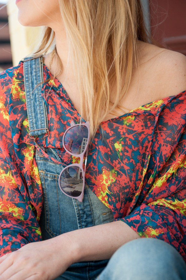 bright patterned shirt