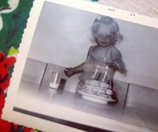 my mom + her smorbakkle cake.