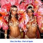 Chez Zen Mas, Carnival, sexy models in red costume, feathers, bikini, brassiere, panty, beads, Business, Entrepreneurs in Trinidad and Tobago, Launch Rockit, Start-up Weekend, Start up, in sweet t&t for Sweet TnT Magazine
