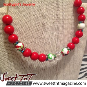 Lifestyle - Thoughtful handmade gifts for Christmas - necklace - courtesy Scottygirl's jewelry.