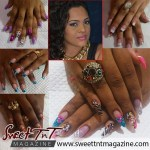 Sommer with gold necklace, nails with nail polish, Sweet T&T, Sweet TnT, Trinidad and Tobago, Trini,
