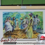 Oval Dancing the Cocoa by Clayton De Freitas on wall at the Ovalin sweet T&T for Sweet TnT Magazine, Culturama Publishing Company, for news in Trinidad, in Port of Spain, Trinidad and Tobago, with positive how to photography.