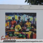 Oval Sunday Market by Keith Ward on the wall at the Oval in sweet T&T for Sweet TnT Magazine, Culturama Publishing Company, for news in Trinidad, in Port of Spain, Trinidad and Tobago, with positive how to photography.