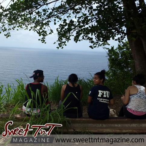 Trekkers take in natural beauty in Chaguaramas.