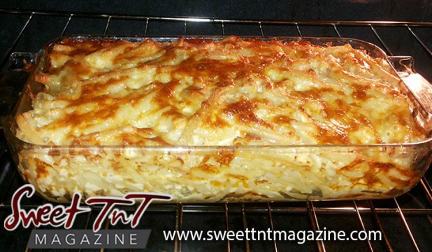 Cheesy macaroni pie with toasted top, food, Sweet T&T, Sweet TnT, Trinidad and Tobago, Trini, vacation, travel