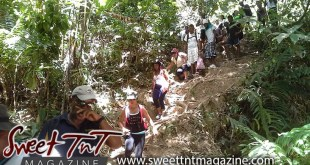 Climbing down the mountain on hike to Paria waterfalls by Joanna Hayde in Sweet T&T, Sweet TnT, Trinidad and Tobago, Trini, vacation, travel